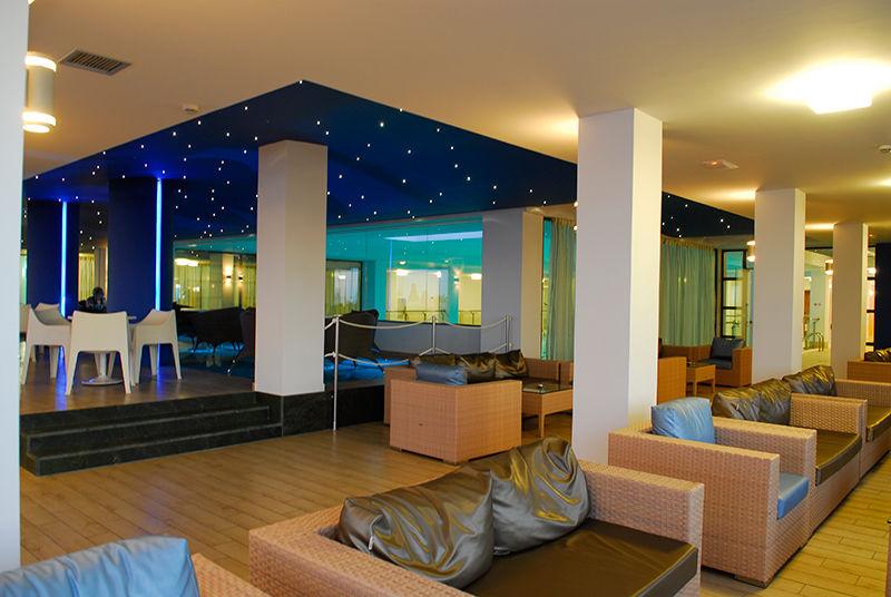 Blue bar interior